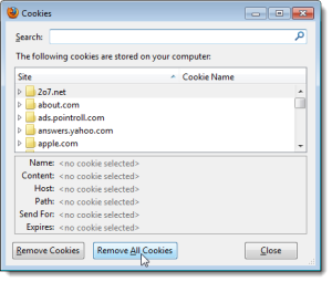 how to fix cookies issues on mozilla firefox