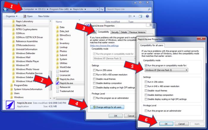windows7 compatible mode