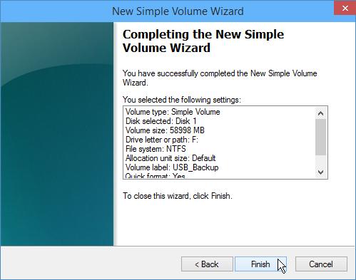 USB drive formatting